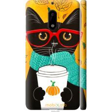 Чехол на Nokia 6 Осенний кот