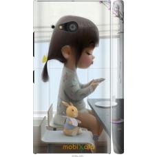 Чехол на Nokia Lumia 730 Милая девочка с зайчиком