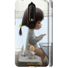 Чехол на Nokia 6 2018 Милая девочка с зайчиком