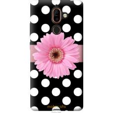 Чехол на Nokia 7 Plus Цветочек горошек v2