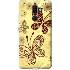 Чехол на Nokia 7 Plus Рисованные бабочки
