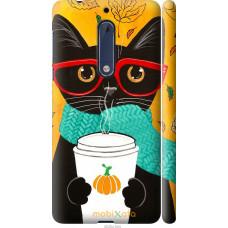 Чехол на Nokia 5 Осенний кот