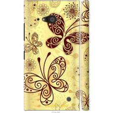 Чехол на Nokia Lumia 730 Рисованные бабочки