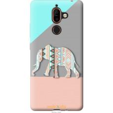 Чехол на Nokia 7 Plus Узорчатый слон