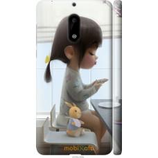 Чехол на Nokia 6 Милая девочка с зайчиком