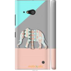 Чехол на Nokia Lumia 730 Узорчатый слон
