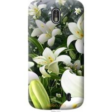 Чехол на Nokia 1 Лилии белые
