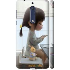 Чехол на Nokia 5 Милая девочка с зайчиком