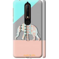Чехол на Nokia 6 2018 Узорчатый слон