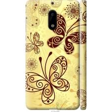 Чехол на Nokia 6 Рисованные бабочки