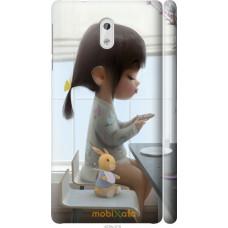 Чехол на Nokia 3 Милая девочка с зайчиком