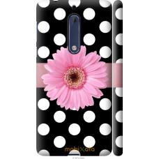 Чехол на Nokia 5 Цветочек горошек v2