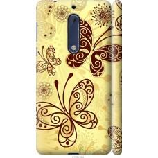 Чехол на Nokia 5 Рисованные бабочки