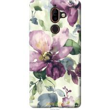 Чехол на Nokia 7 Plus Акварель цветы