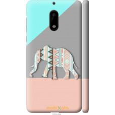 Чехол на Nokia 6 Узорчатый слон