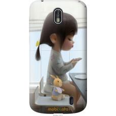 Чехол на Nokia 1 Милая девочка с зайчиком
