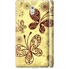 Чехол на Nokia 3 Рисованные бабочки