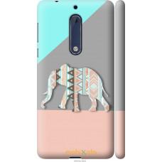 Чехол на Nokia 5 Узорчатый слон