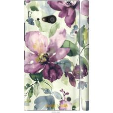 Чехол на Nokia Lumia 730 Акварель цветы