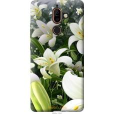 Чехол на Nokia 7 Plus Лилии белые