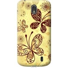 Чехол на Nokia 1 Рисованные бабочки