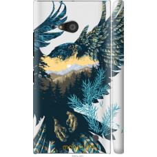 Чехол на Nokia Lumia 730 Арт-орел на фоне природы