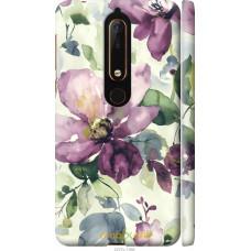 Чехол на Nokia 6 2018 Акварель цветы
