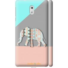 Чехол на Nokia 3 Узорчатый слон