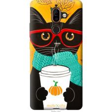 Чехол на Nokia 7 Plus Осенний кот