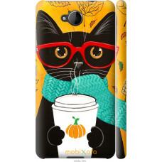 Чехол на Nokia Lumia 650 Осенний кот