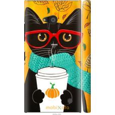 Чехол на Nokia Lumia 730 Осенний кот