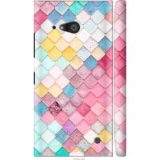 Чехол на Nokia Lumia 730 Красочная черепица