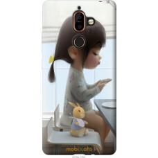 Чехол на Nokia 7 Plus Милая девочка с зайчиком
