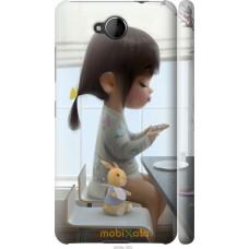 Чехол на Nokia Lumia 650 Милая девочка с зайчиком
