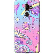 Чехол на Nokia 7 Plus 'Розовый космос
