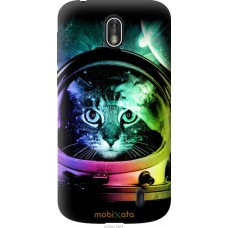 Чехол на Nokia 1 Кот космонавт
