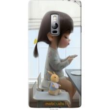 Чехол на OnePlus 2 Милая девочка с зайчиком