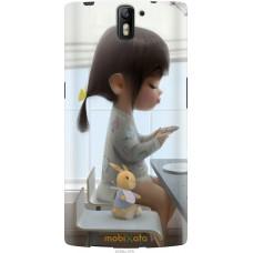 Чехол на OnePlus 1 Милая девочка с зайчиком
