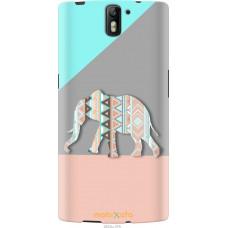 Чехол на OnePlus 1 Узорчатый слон