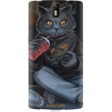 Чехол на OnePlus 1 gamer cat
