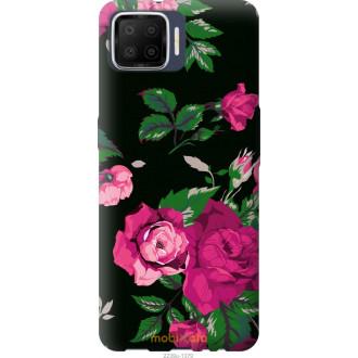 Чехол на Oppo A73 Розы на черном фоне