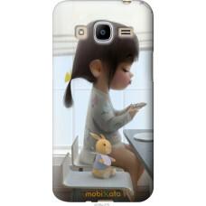 Чехол на Samsung Galaxy J2 (2016) J210 Милая девочка с зайчи