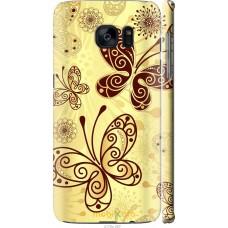 Чехол на Samsung Galaxy S7 Edge G935F Рисованные бабочки