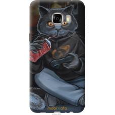 Чехол на Samsung Galaxy C7 C7000 gamer cat