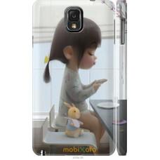 Чехол на Samsung Galaxy Note 3 N9000 Милая девочка с зайчико