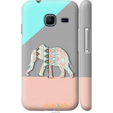 Чехол на Samsung Galaxy J1 Mini J105H Узорчатый слон
