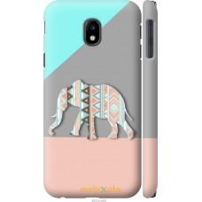 Чехол на Samsung Galaxy J3 (2017) Узорчатый слон