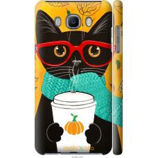 Чехол на Samsung Galaxy J7 (2016) J710F Осенний кот