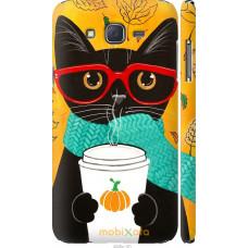 Чехол на Samsung Galaxy J7 J700H Осенний кот