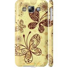 Чехол на Samsung Galaxy E5 E500H Рисованные бабочки